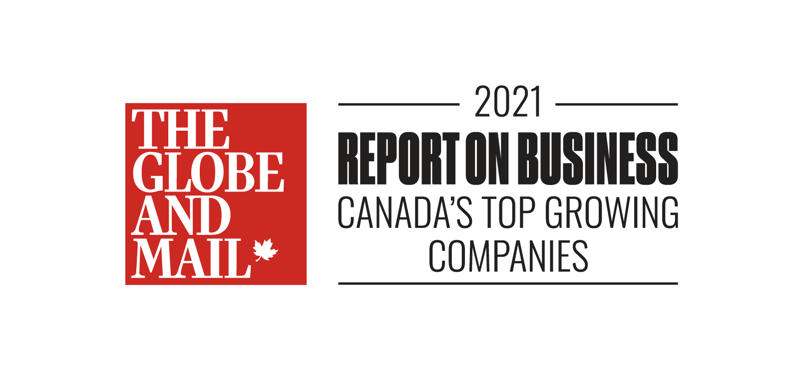 Globe and Mail Canada's Top Growing Company