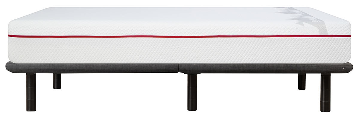Side view of Douglas mattress on a Podium adjustable bed